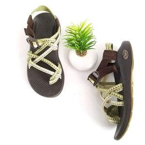 Chaco Womens ZX/2 Yampa Hiking Sport Sandals Green